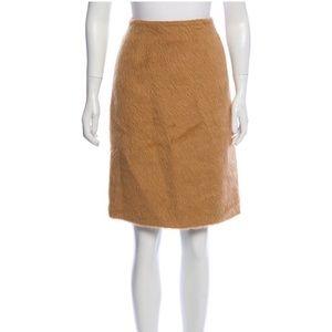 Shearling Knee Length Skirt